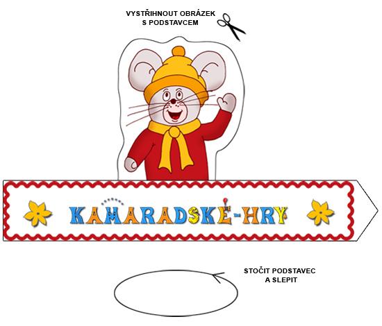 Hry k vytisknutí - skládanka myška