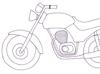 Omalovánka - motorka